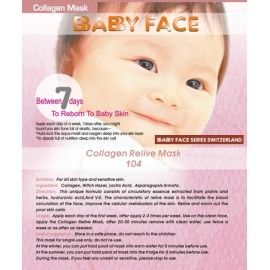 BABY FACE Collagen Relive Mask 活細胞收毛孔骨膠原面膜